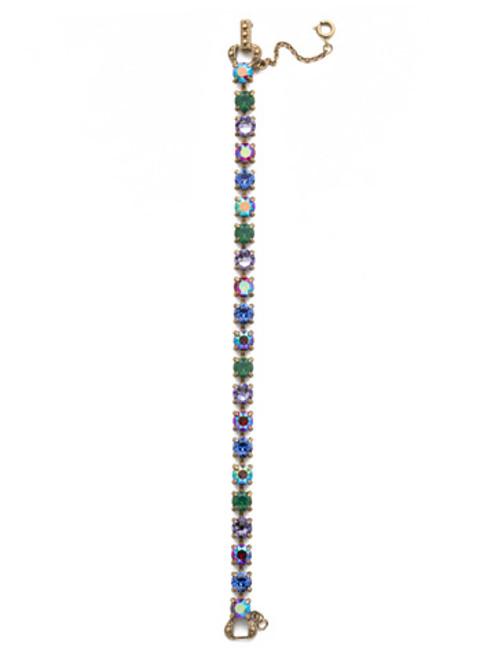 Sorrelli Game of Jewel Tones   Crystal Line  Bracelet~BCZ36AGGOT