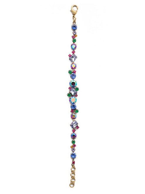 Sorrelli Game of Jewel Tones Geo  Classic Line Crystal  Bracelet~BDG46AGGOT