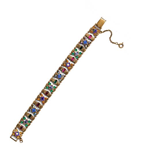 Sorrelli Game of Jewel Tones Lyanna Classic Crystal Bracelet~BEF7AGGOT