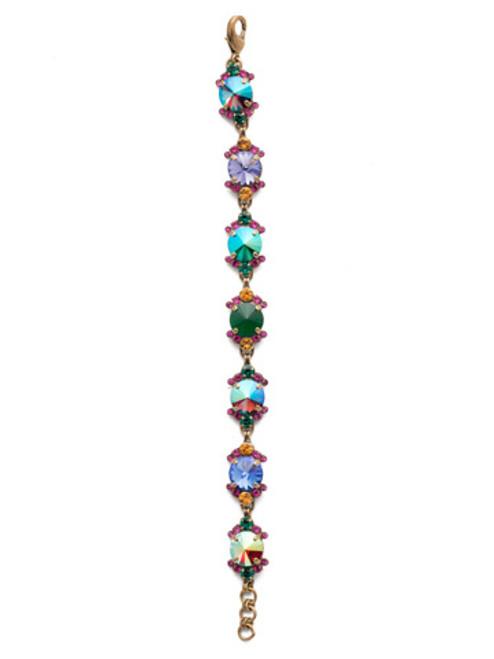 Gold Jewel Tones Crystal Bracelet