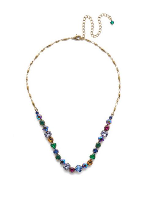 Sorrelli Game of Jewel Tones Papaver Classic  Crystal  Necklace~NDX14AGGOT