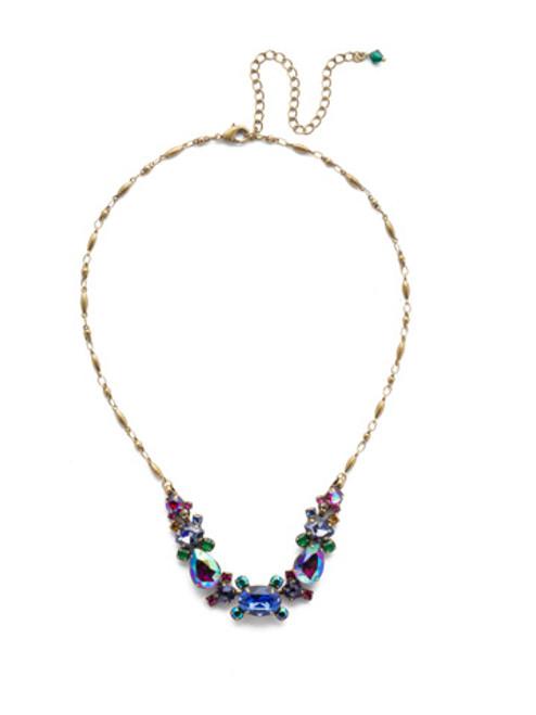 Sorrelli Game of Jewel Tones Laurel   Crystal  Necklace~NDS49AGGOT