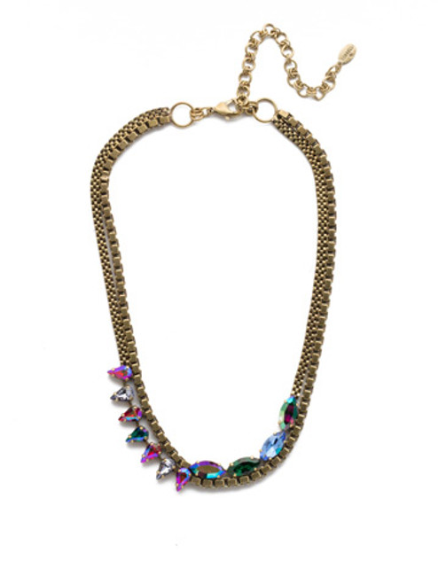 Sorrelli Game of Jewel Tones  Crystal Necklace