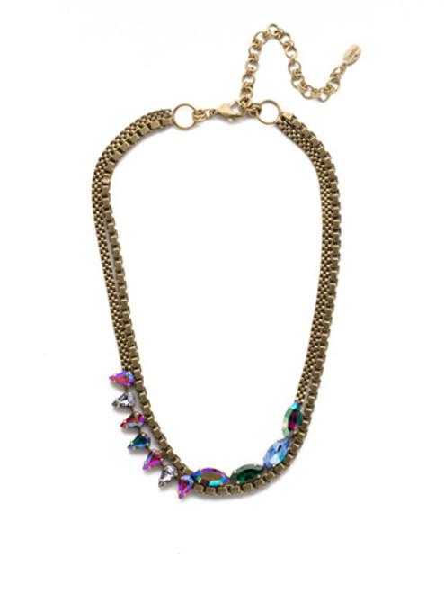 Sorrelli Game of Jewel Tones Brienne Classic   Crystal  Necklace~NEF6AGGOT