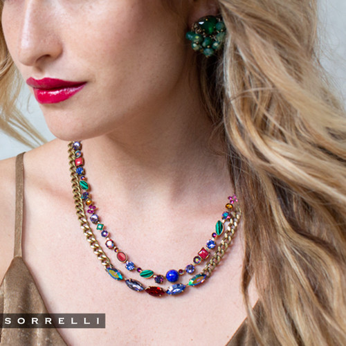 Sorrelli Game of Jewel Tones Classic Crystal Necklace NAQ3AGGOT