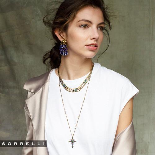 Sorrelli Game of Jewel Tones Lyanna Classic Crystal Necklace NEF7AGGOT
