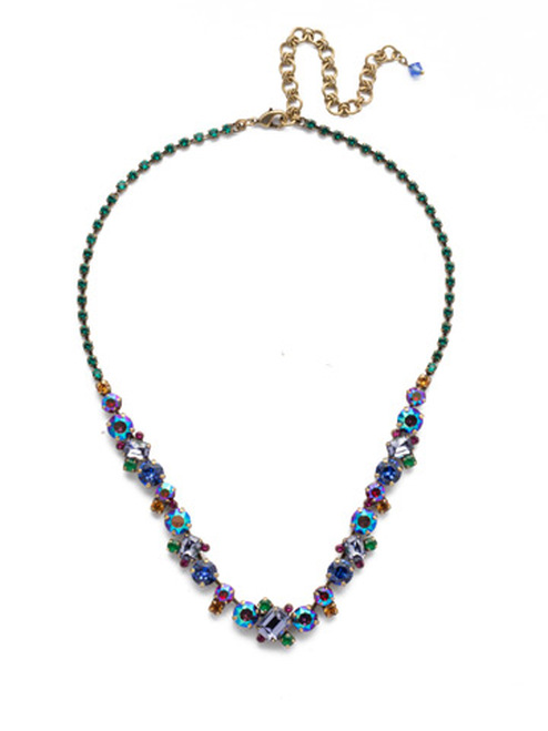 Copy ofSorrelli Game of Jewel Tones Classic Crystal Necklace NDK17AGGOT