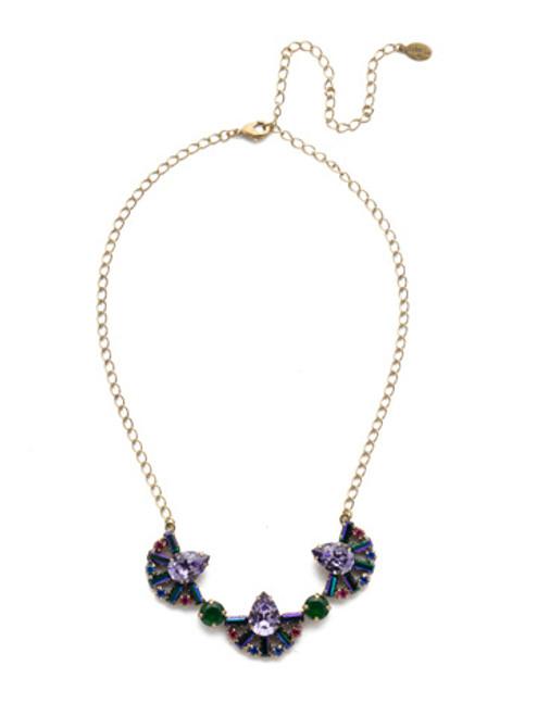 Sorrelli Game of Jewel Tones Lysa  Crystal Bib  Necklace~NEF2AGGOT