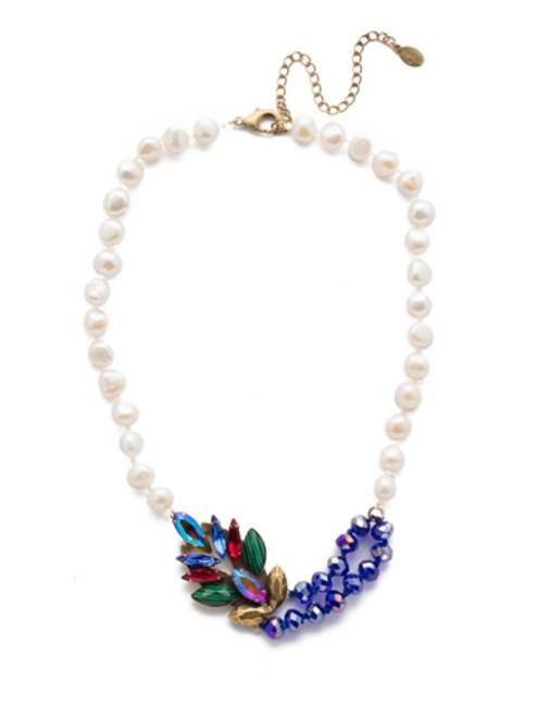 Antique Gold Tones Crystal Necklace