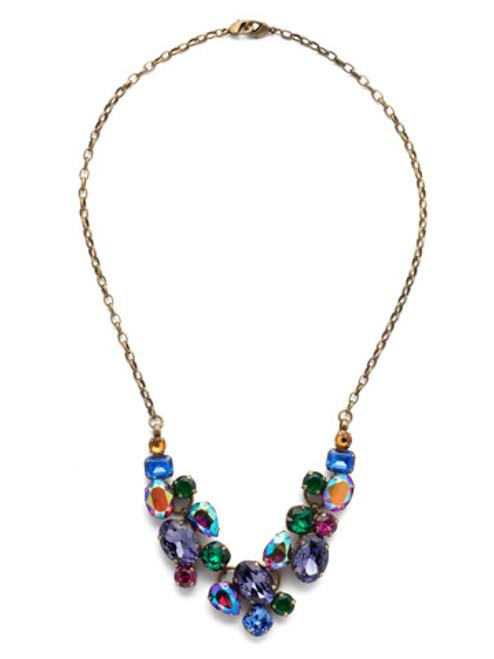 Sorrelli Game of Jewel Tones  Crystal Necklace~NDQ6AGGOT
