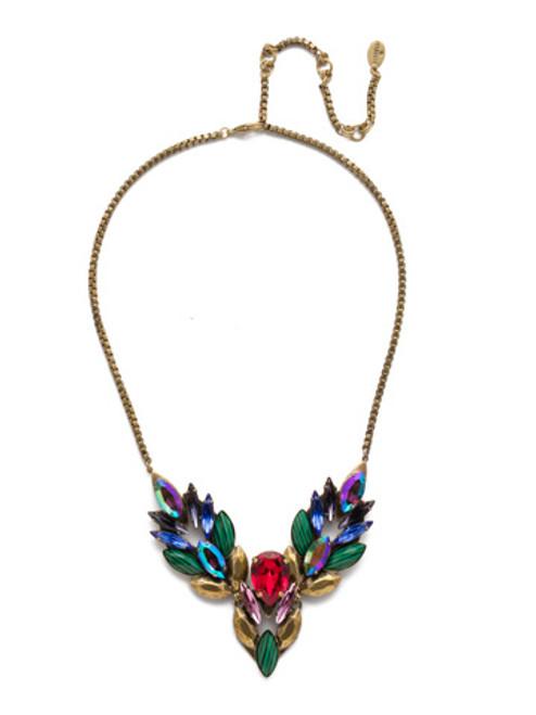 Sorrelli Game of Jewel Tones Melisandre Crystal Necklace NEF41AGGOT