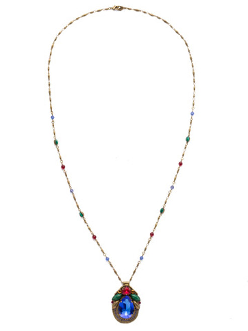 Sorrelli Game of Jewel Tones Armeria Crystal Necklace NDX13AGGOT