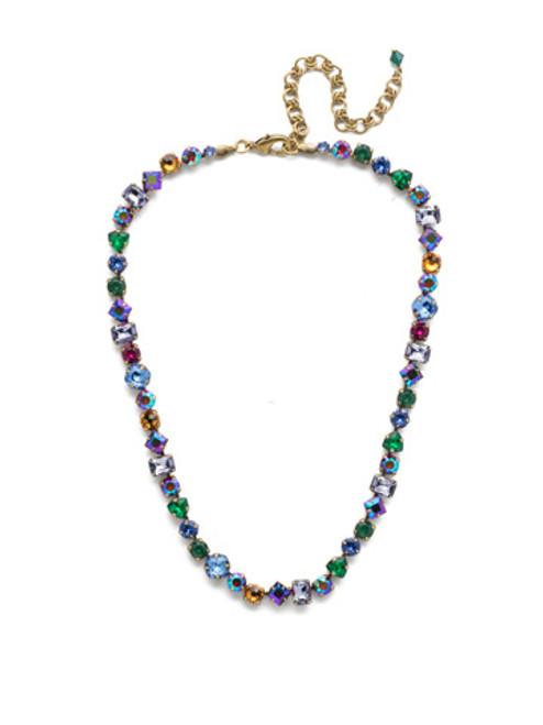 Antique Gold Crystal Necklace ndx1aggot