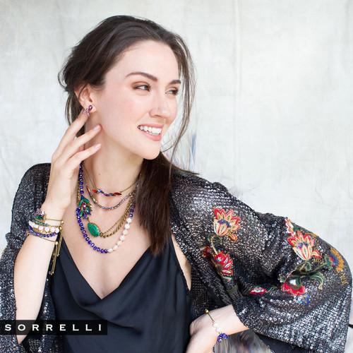 Sorrelli Game of Jewel Tones Crystal Necklace
