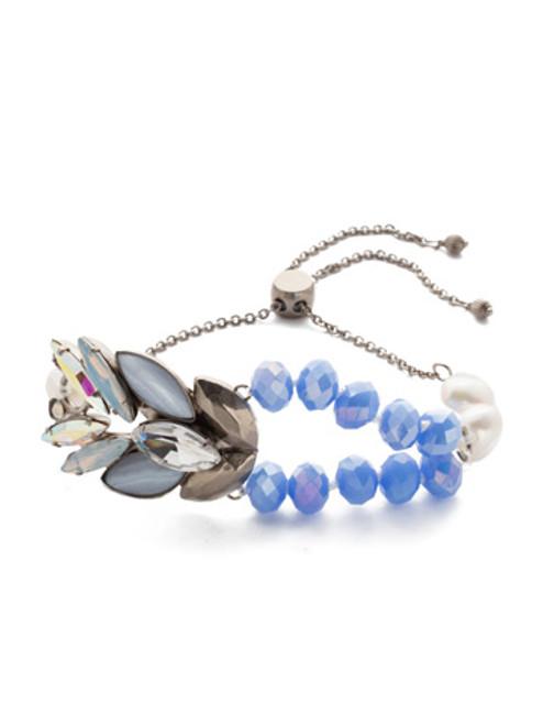 sorrelli glacier crystal slider bracelet bef11asglc