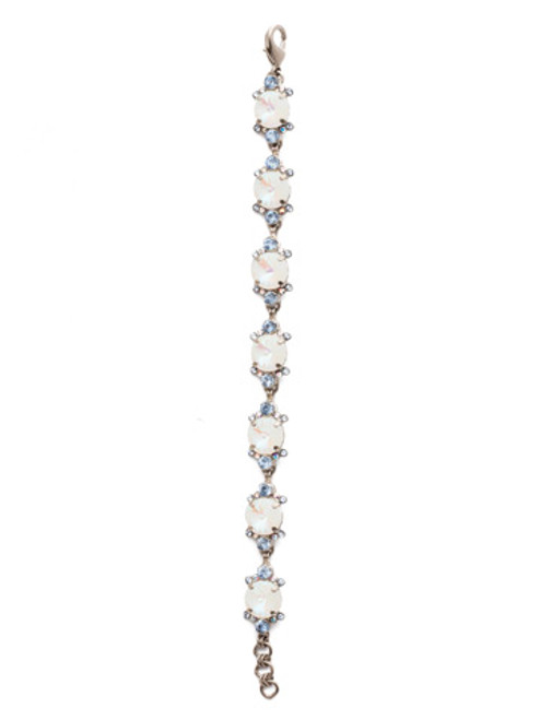 Glacier Crystal Silver Bracelet
