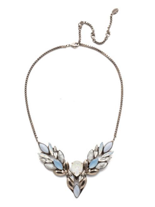 Glacier Silver Crystal Necklace