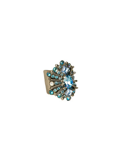 **MADE TO ORDER**EMERALD COAST SPARKLING SPECTACLE CRYSTAL COCKTAIL RING BY SORRELLI- RCQ15ASECO
