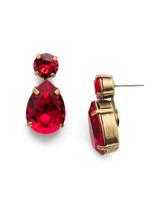 Sansa Red Crystal Earrings