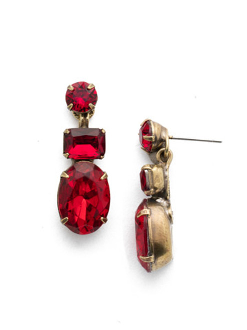 Sorrelli Sansa Red Crystal Earrings