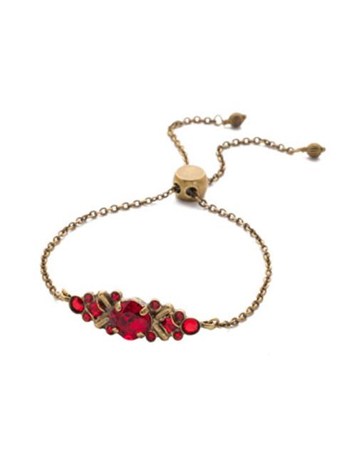 sorrelli sansa red rosina crystal slider bracelet bea30agsnr