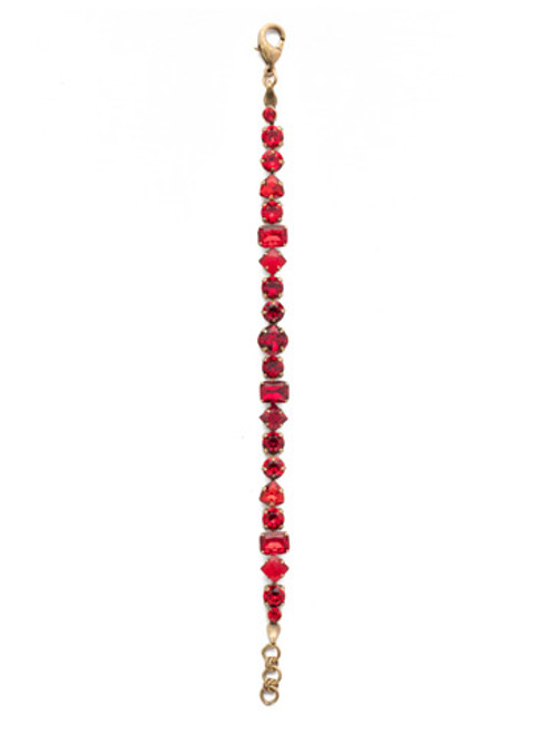 Different View Sorrelli Sansa Red Sedge Classic Line Crystal Bracelet BDX1AGSNR