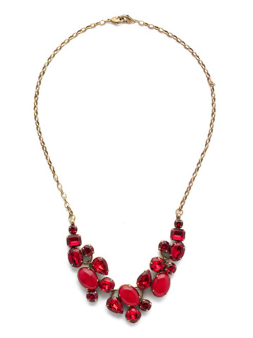 Sorrelli Sansa Red Forget Me Not Necklace- NDQ6AGSNR