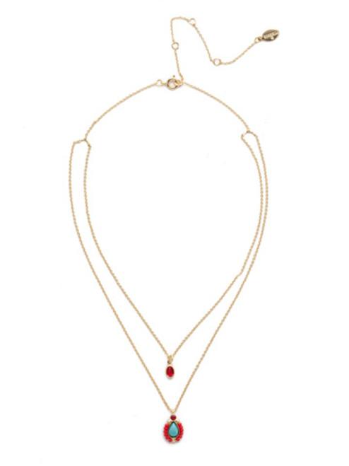 Sorrelli Phoenix Pendant Necklace in Ruby Moroccan Turquoise~NEH18BGRTU