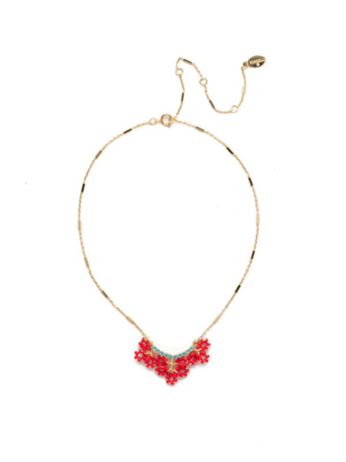 Sorrelli Sefina Pendant Necklace in Ruby Moroccan Turquoise NEH8BGRTU