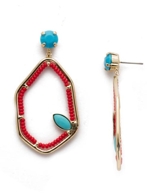 Sorrelli Seascape  Earrings in Ruby Moroccan Turquoise~EEH10BGRTU