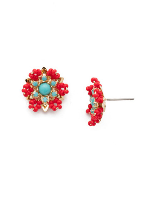 Sorrelli Astrid  Earrings in Ruby Moroccan Turquoise~EEH1BGRTU