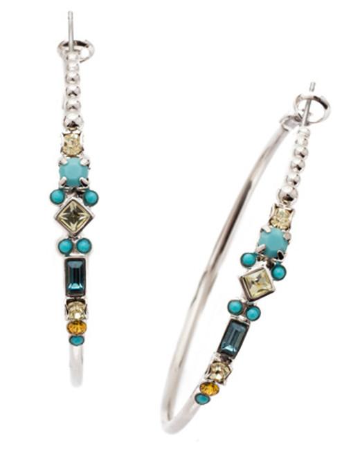 sorrelli tahitian treat briar hoop earrings eds25rhtht