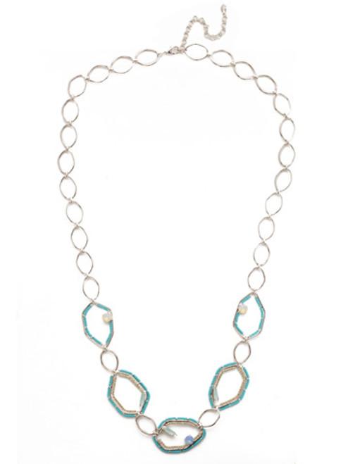 Sorrelli Tahitian Treat Seascape Long Strand Necklace NEH10RHTHT