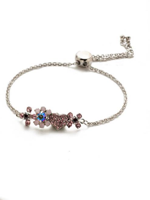 Sorrelli Apple Blossom Crystal  Slider Bracelet~BEM8RHAB