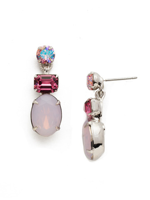 Sorrelli Apple Blossom Forget Me Not Crystal Earrings EDQ6RHAB
