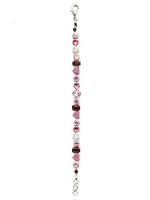 Sorrelli Apple Blossom Crystal Rhodium Bracelet ~ BDX1RHAB