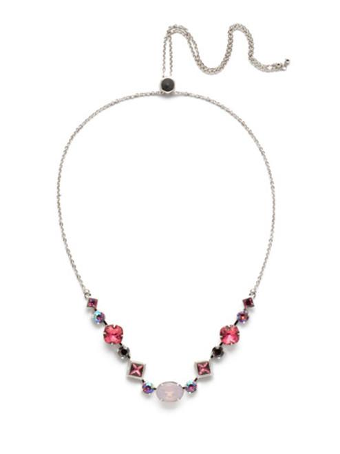 Sorrelli Apple Blossom Crystal   Necklace~NEK29RHAB