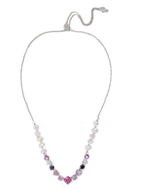 Sorrelli Apple Blossom Crystal   Necklace~NEM4RHAB