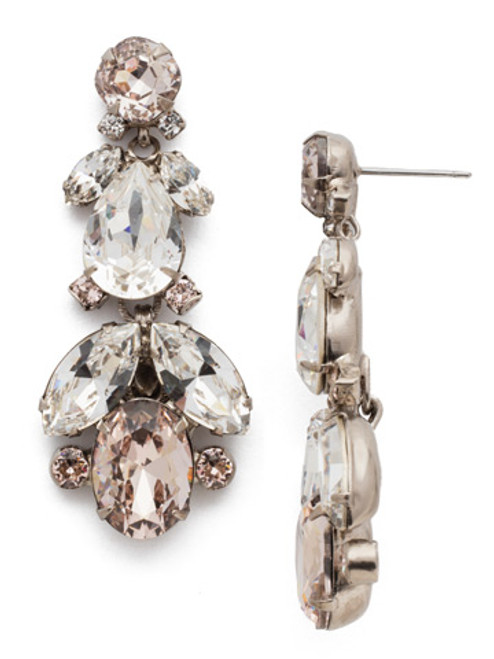 Soft Petal Crystal Earrings