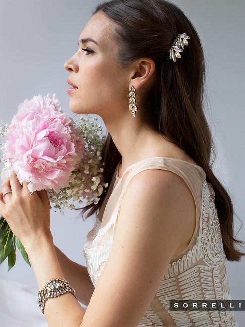 Sorrelli Soft Petal - Gleaming Oval Layered Bracelet~ BBZ48ASPLS