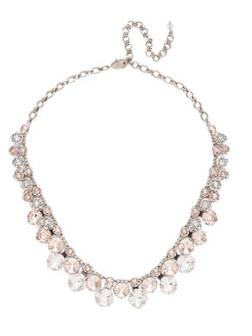 Soft Petal Crystal Necklace