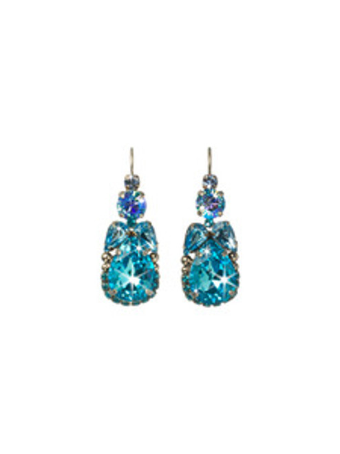 EMERALD COAST CRYSTAL EARRINGS BY Sorrelli ECQ11ASECO