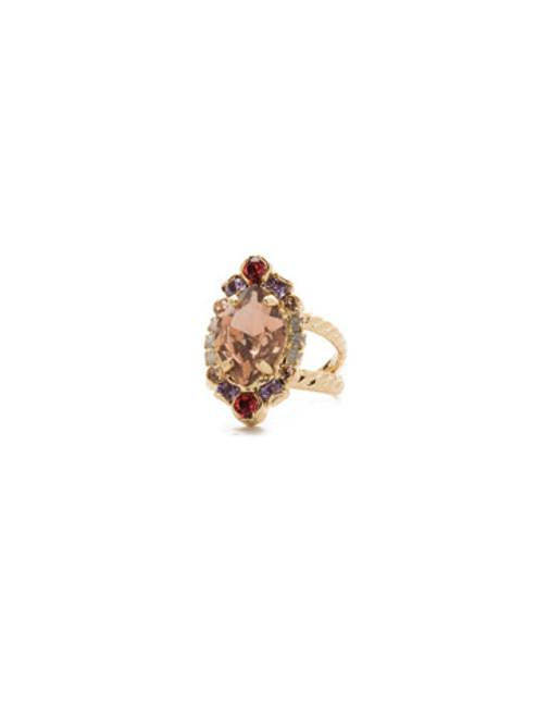Sorrelli Island Sun- Eustoma Crystal Cocktail Ring~ RDS44BGISS
