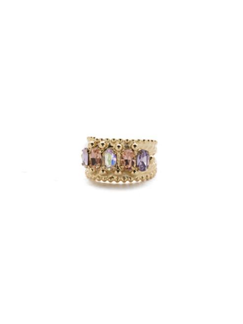 Sorrelli Island Sun- Crown Jewel Crystal Cocktail Ring~ RDH2BGISS