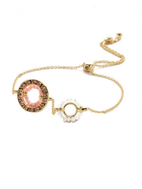 Sorrelli Island Sun Fire & Ice Crystal Slider Bracelet~ BEH4BGISS
