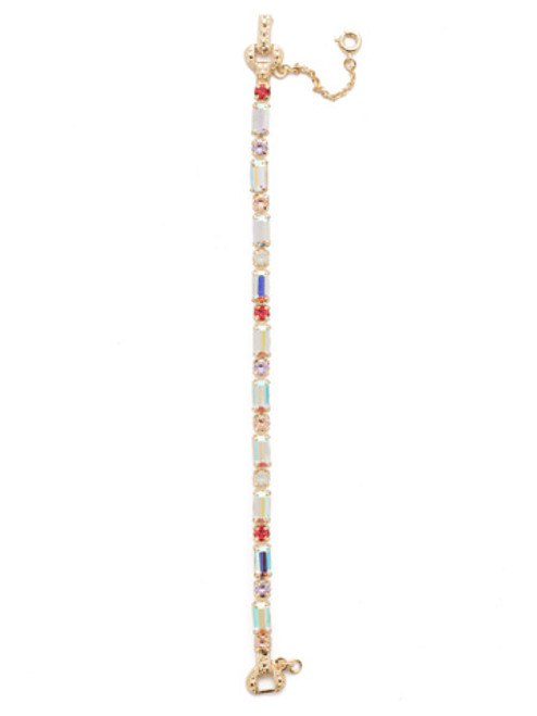 Sorrelli Island Sun Line & Dot Crystal Tennis Bracelet~ BDK70BGISS