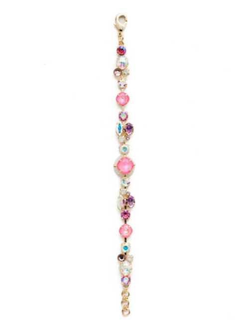 Sorrelli Island Sun Harumi Crystal Tennis Bracelet~ BEK40BGISS