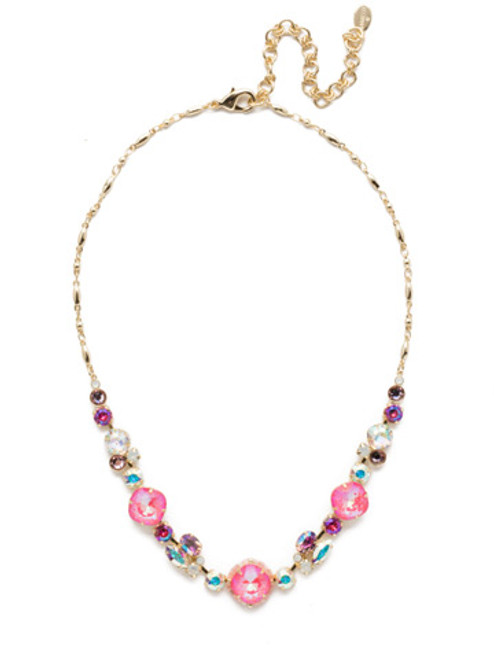 Sorrelli Island Sun Lin Tennis Necklace~ NEH22BGISS