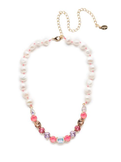 Sorrelli Island Sun Crystal Cadenza Tennis Necklace~ NEC14BGISS