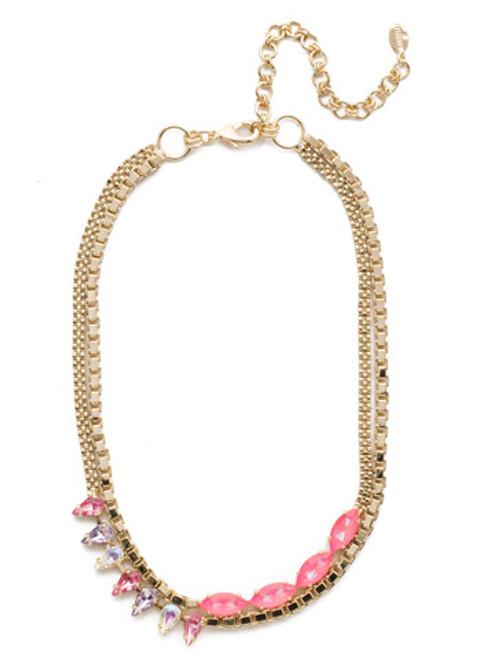 Sorrelli Island Sun Brienne Crystal Necklace~ NEF6BGISS